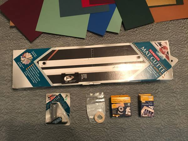 Photo Logan Compact Mat Cutter and Extras, Mat Boards, etc. - $150
