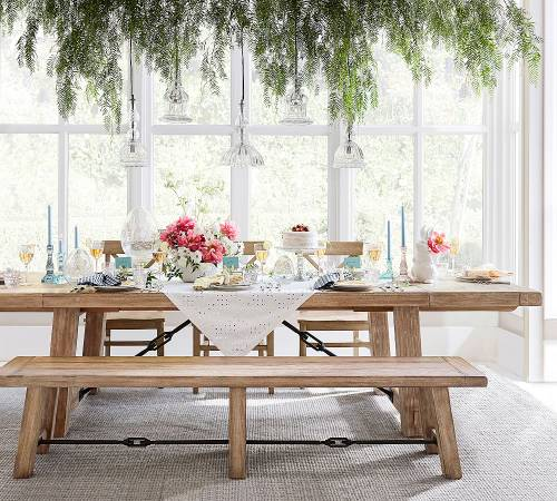 Photo Pottery Barn Benchwright Extending Dining Room Table $1,500 OBO - $1500