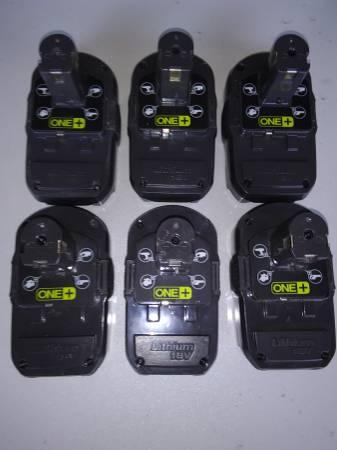 Photo Ryobi P102 18V One Lithium Ion Compact Batteries - $20 (NRH)
