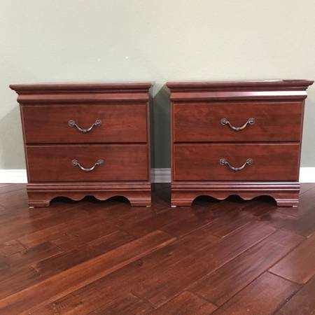 Photo Set of 2 nightstands end tables night stands. Brand is Eric Morgan by Bush. - $100 (Rockwall)