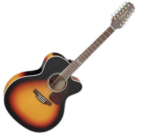 Photo Takamine 12-string Jumbo AcousticElectric Guitar - Brown Sunburst - $600 (Allen)
