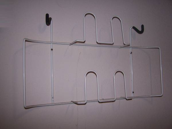Photo Wall Mount Golf Bag  Shoes Holder Steel White - $10 (Frisco)