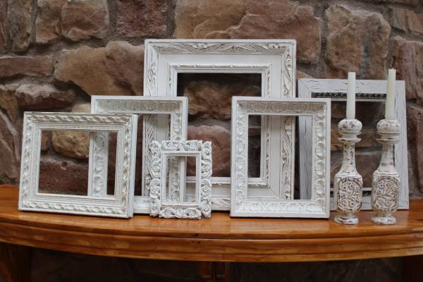 Custom Frames in Antique White  Distressed (mckinney)