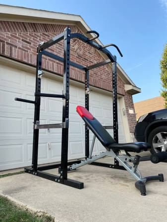 Photo powertec power cage with adjustable bench - $600 (Fort Worth)