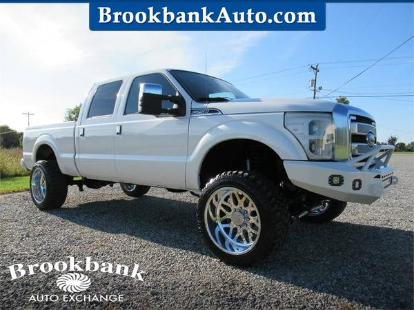 Photo 2013 FORD F250 SUPER DUTY PLATINUM, White APPLY ONLINE-gt BROOKBANKAUTO - $49,827 (RAM CHEVY FORD DODGE JEEP)
