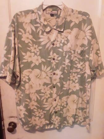 Photo Genuine Tommy Bahama Men39s Hawaiian 100 Silk XL Shirt - $15 (Apex)