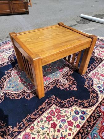 Photo Mission Style Side Table - $50 (Holly Springs)