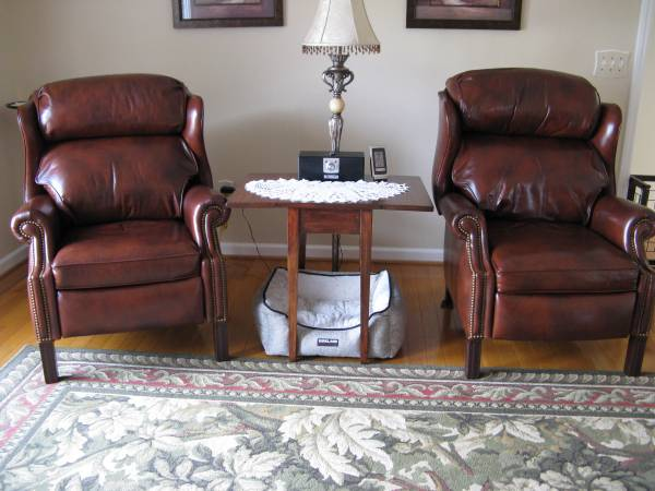 Photo Two Hancock  Moore Leather Recliners - $1200 (Ringgold, VA)