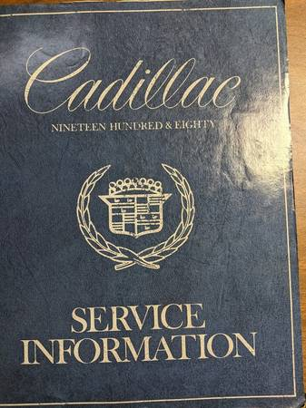 Photo 1980 Cadillac Service Manual - $25 (Yellow Springs)
