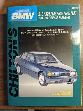 Photo 1989-93 BMW (E30) Service Manual - $15 (Yellow Springs)