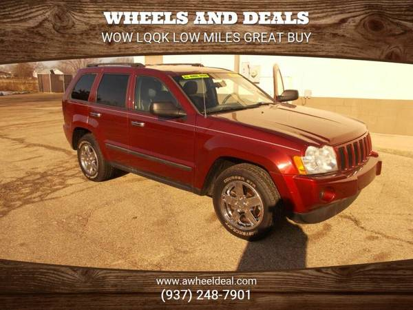 Photo 2007 JEEP GRAND CHEROKEE 4X4 LAREDO RED ROCK PEARL PAINTLOW MILES - $6795 (new lebanon)