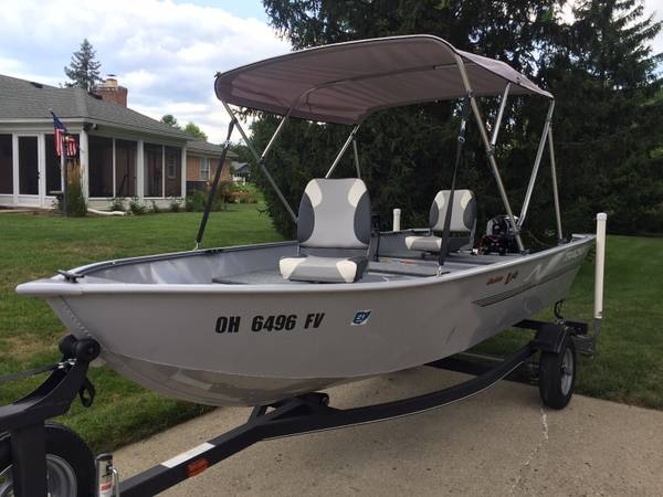 Photo 2018 TRACKER Guide V14 2018 9.9 Mercury 4 Stroke, 2018 Trailstar Trlr. - $5,600 (Miami Township, Ohio)