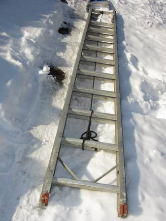 Photo 24 Ft. Aluminum Extension Ladder Heavy Duty 250 lb Type I Sears - $125 (Dayton)