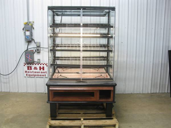 Photo 45quot Glass Door Island Wood Bakery Donut Muffin Bread Display Case - $1,795 (Clayton, OH)