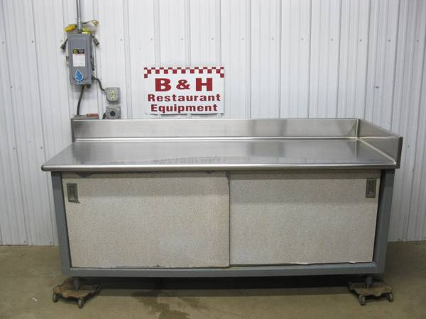 Photo 84quot Heavy Duty Stainless Steel Work Bench Table Cabinet 739 - $650 (Clayton, OH)
