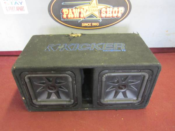 Photo AS-IS KICKER 44DL7S122 DUAL 12quot CAR SUBWOOFER BOX (1 SUB IS BLOWN) - $295 (Xenia)
