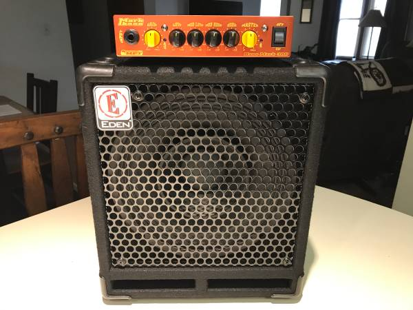 Photo Eden 110 bass cab  Markbass 300 watt Nano head - $350 (Waynesville)