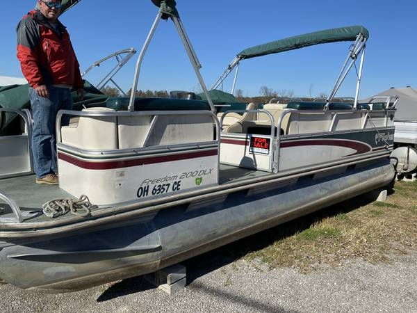Photo Fisher 20 pontoon boat w75hp engine - $5,995 (Indian Lake)