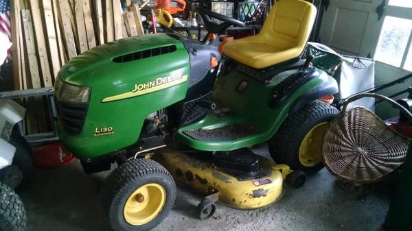 Photo John Deere riding mower L130 48quot (not working) lawnmower - $75 (Beavercreek)