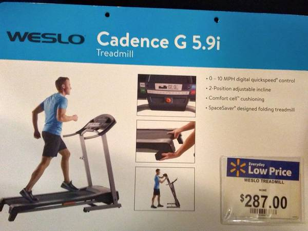 Photo Like New Weslo Cadence G 5.9i Treadmill - $125 (DAYTON)