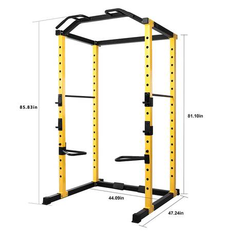 Photo Multi-Function Adjustable Power Cage with J-Hooks, Dip Bars  Options - $170 (Huber Heights)