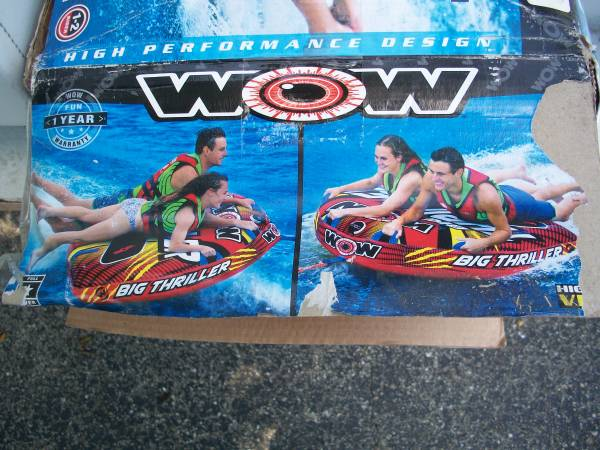Photo WOW BIG THRILLER Boat Tube-Inflateable - $75 (Tipp City)