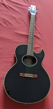 Photo Washburn Festival series EA-10BK acoustic electric guitar. - $325 (Dayton)