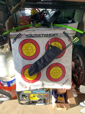Photo Youth bow and target - $75 (Troy)