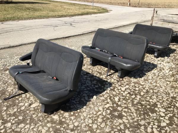 Photo chevy express van gmc savana van bench seats