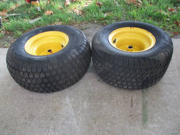 Photo 2 John Deere Front Tires and Rims 18x8.50-8 - $10 (Decatur)