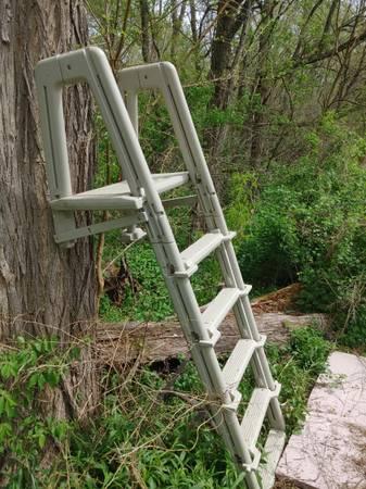 Photo Pool ladder (above ground) - $25 (Brimfield)