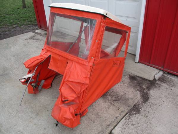 Photo Sears Hardtop Vinyl Cab for lawn tractor - $150
