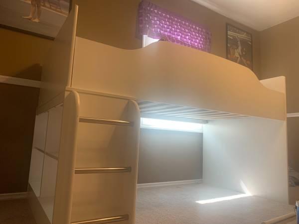 Wood twin loft bed - $250