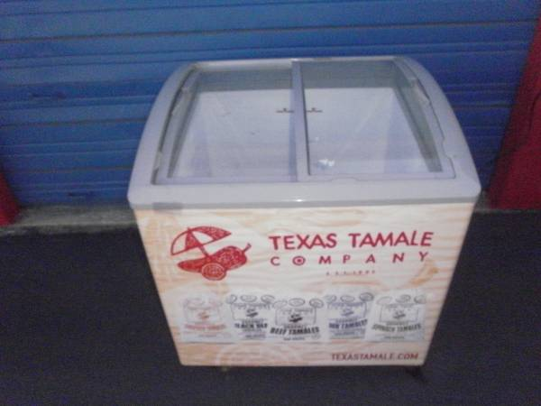 Photo 2 Available Commercial Display Freezer 2 Glass Sliding Doors on Wheels - $310 (I35N  410E)