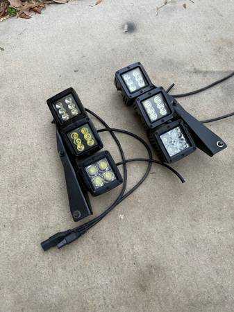 Ford Raptor triple LED fog lights with bracket - $150 (North 281)