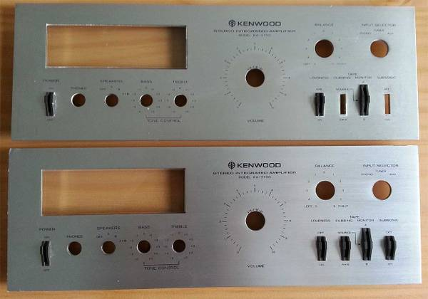Photo Kenwood KA-5700 top cover, (2) faceplates and wood side panels - $100 (New Braunfels)