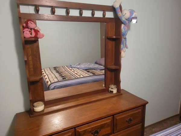 Photo Solid Oak Dresser - $175 (Karnes City)