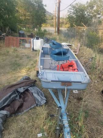 Photo 11quot639 Jon boat, trailer, troll motor - $1,200 (Golden)