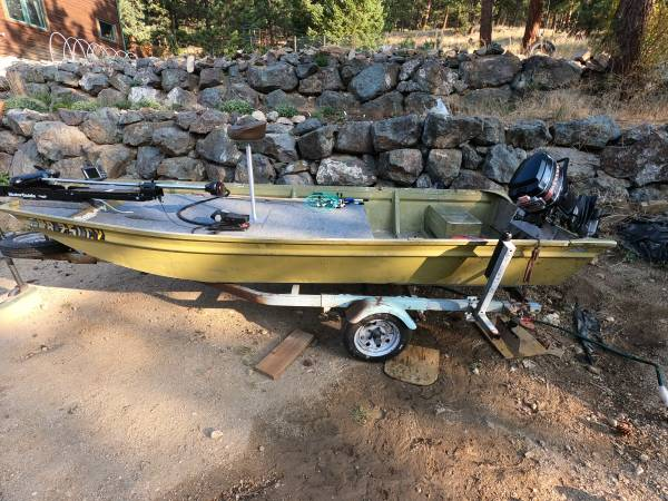 Photo 14 Foot Jon Boat With 35 HP Outboard - $3,000 (denver)