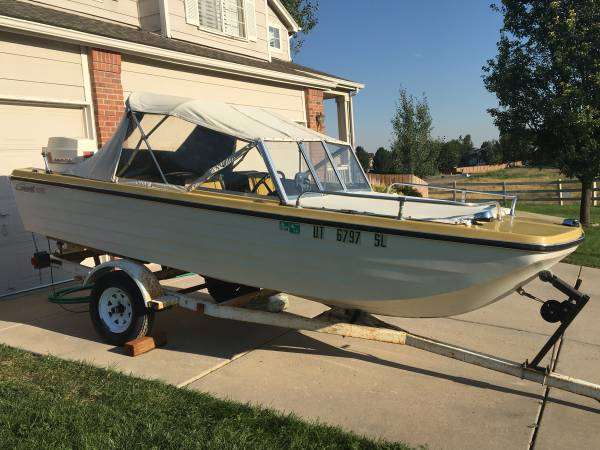 Photo 1973 Sea-swirl - Tri-Hull - Open Bow - Vintage SkiFishing Boat - $3,500 (Centennial)