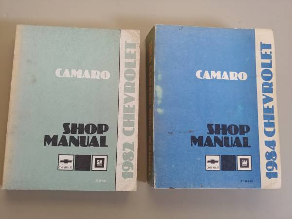 Photo 1982  1984 Camaro shop manuals - $20 (Denver)