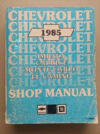 Photo 1985 Chevy shop manual monte carlo, el camino, impala, caprice - $20 (Denver)