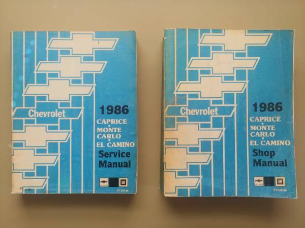 Photo 1986 Chevy Monte Carlo, El Camino, caprice manuals - $35 (Denver)