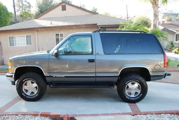 1999 CHEVY TAHOE LT 2 DOOR 4X4 LOW MILES - $16500 (burbank ...