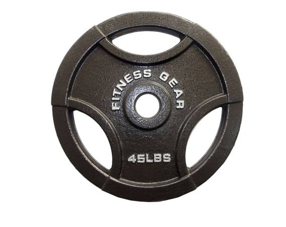 Photo (2) 45 LB Olympic Weight Plates - $200 (Denver)