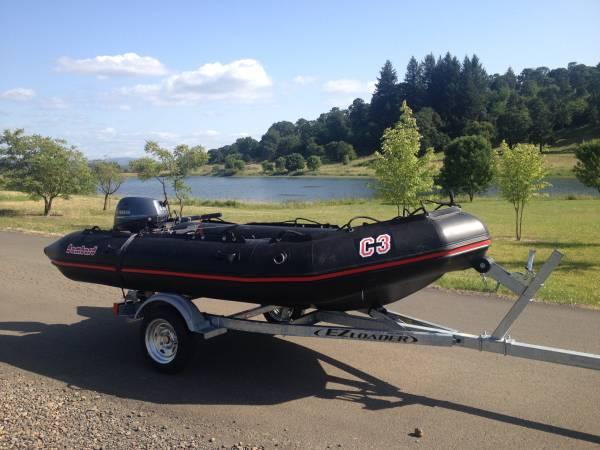 Photo Bombard Commando C3 Inflatable Boat, EZ Loader Trailer  20 HP motor - $8,500 (Denver, CO)