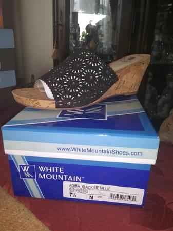 Photo Brand new White Mountain Adira Black Metallic Size 7 12 - $45