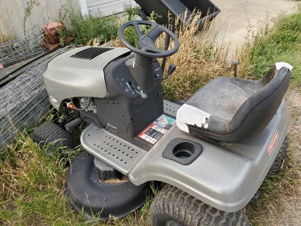 Craftsman LTS1500 lawn tractor and implements - $600 (Elizabeth, CO)