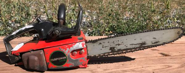 Photo Craftsman Roper 2.5 16quot Chainsaw - $125 (Black Hawk)