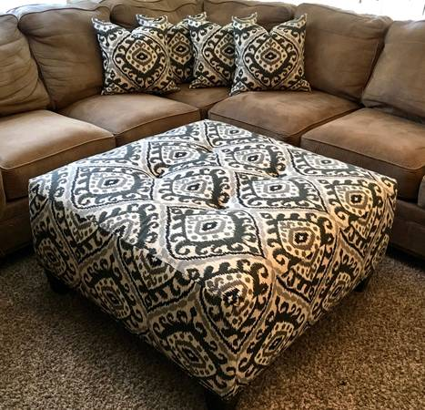Photo Custom ottoman with matching pillows - $310 (Parker)